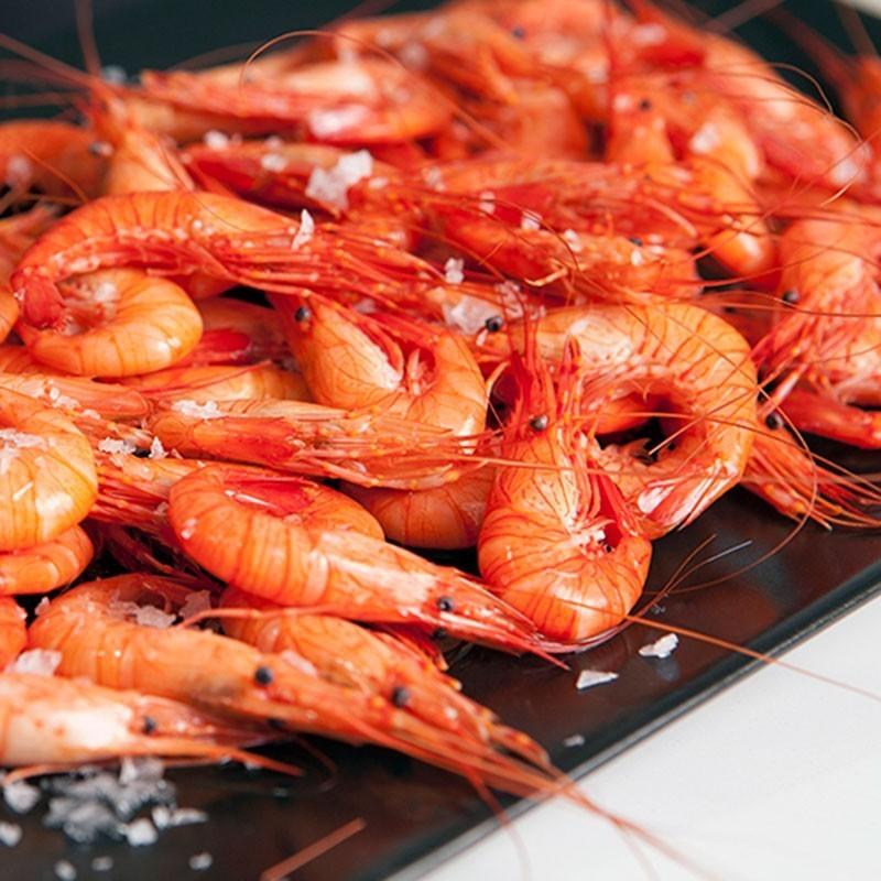 Camarón cocido Gallego