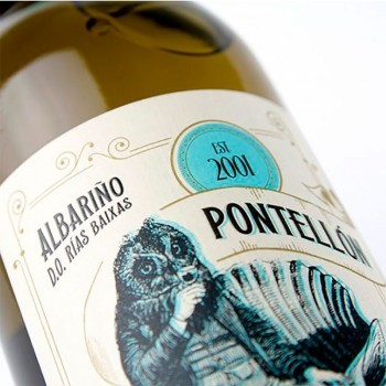 Botella de vino Albariño Pontellón
